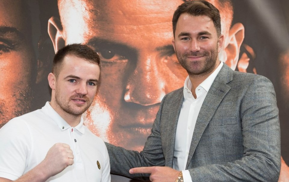 Frankie Gavin and Eddie Hearn