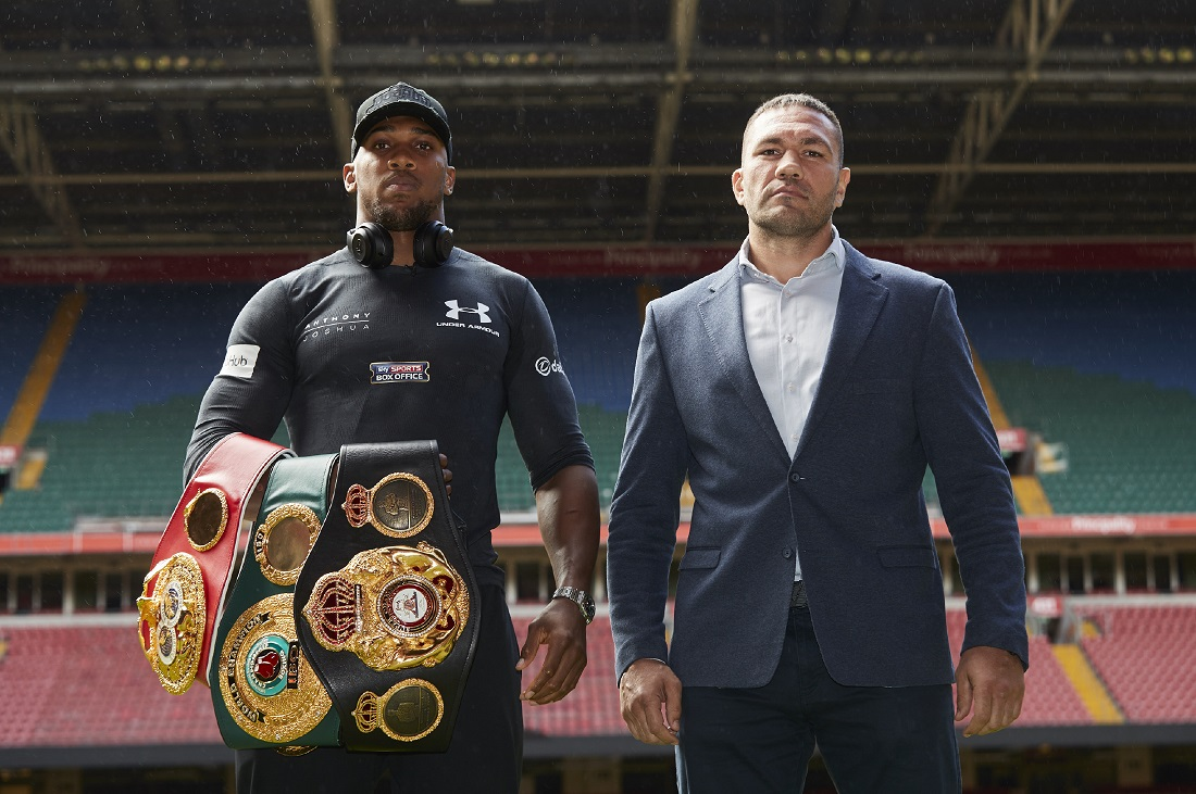 Anthony Joshua and Kubrat Pulev Press conference for their World Heavyweight title fight at the Principality Stadium in Cardiff on Saturday October 28, live on Sky Sports Box Office. 11th September 2017 Picture By Mark Robinson.